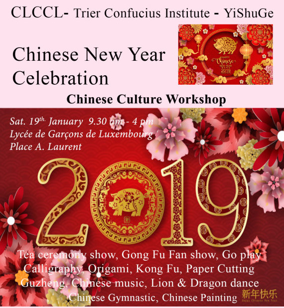 Chinese NewYear Celebration & Cultural workshop on 19th. January