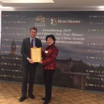China Chopsticks Business group & Hurun Report presented Award to President ZHANG Yi